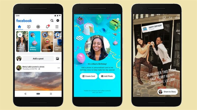Similar to Instagram Stories, Facebook Stories are mobile-native vertical full-screen format