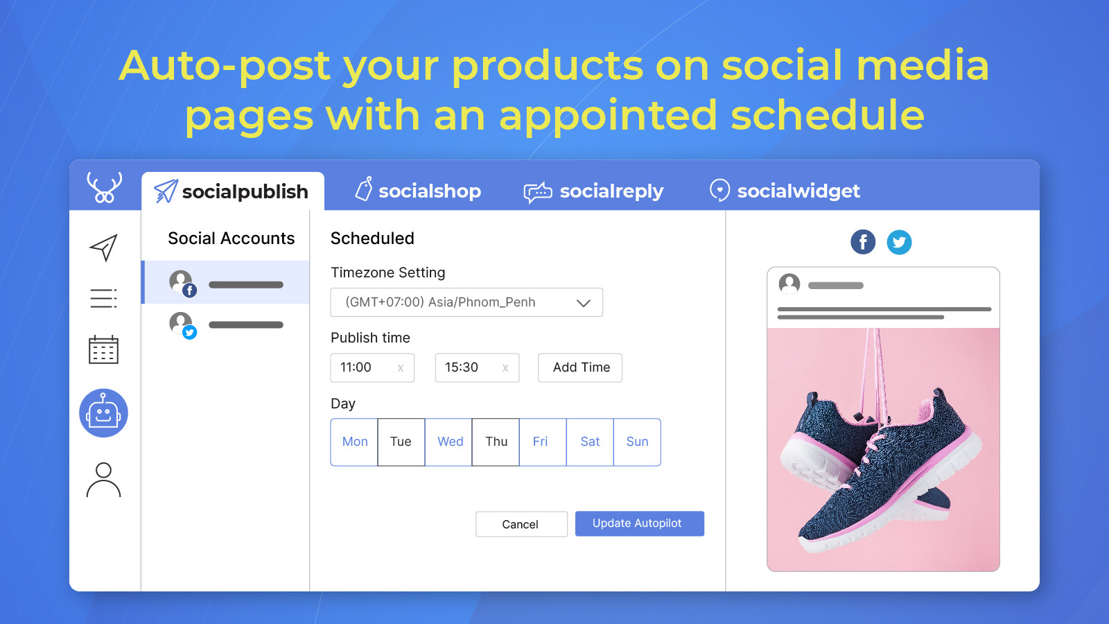 Set it and forget it with Socialpublish