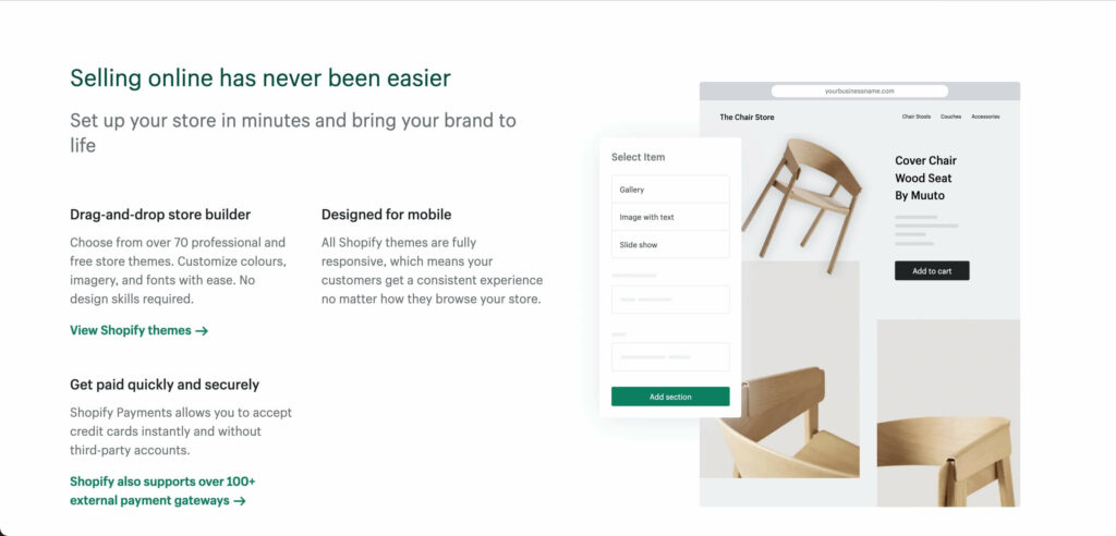 Friendly UI helps merchants set up things just by clicks