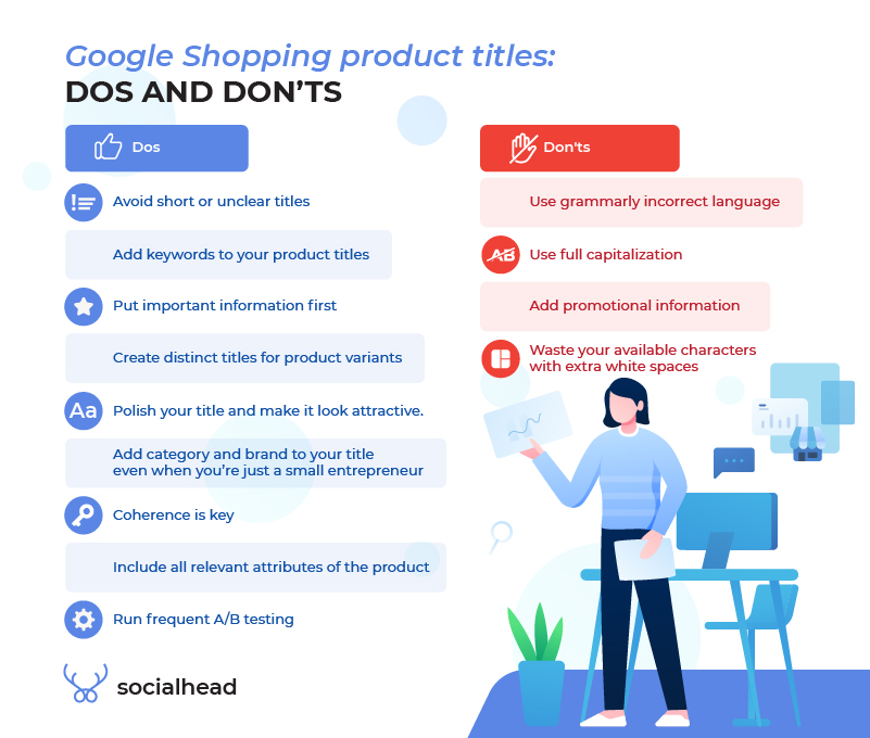 Google Shopping product titles - Dos and Don'ts