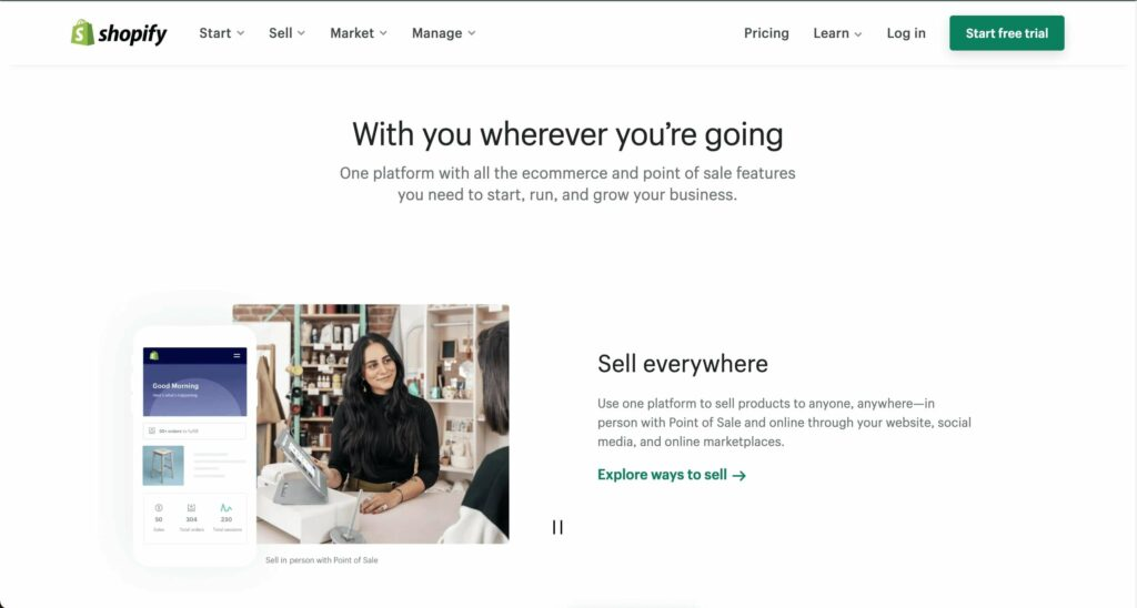 Shopify is one of the top marketplaces in the world