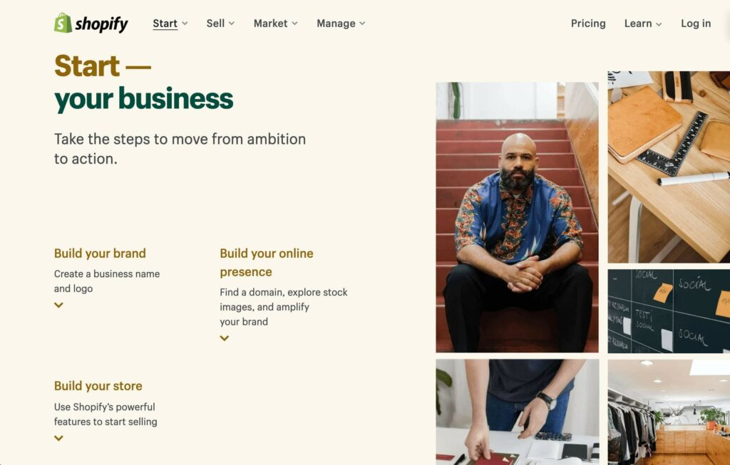 You can totally start on Shopify with just very little budget